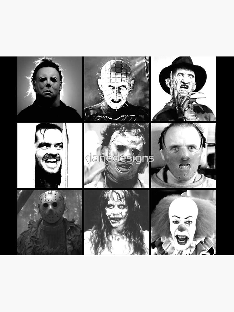 Iconic Horror Villians by kjanedesigns