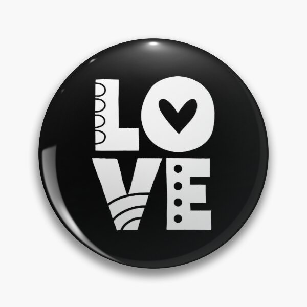 White Love Letters Pin