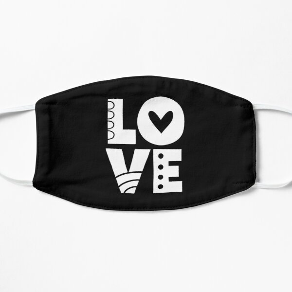 White Love Letters Mask