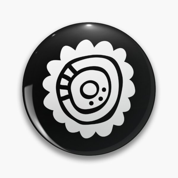 White Abstract Flower Pin
