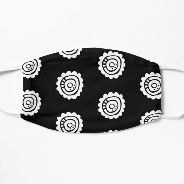 White Abstract Flower Mask