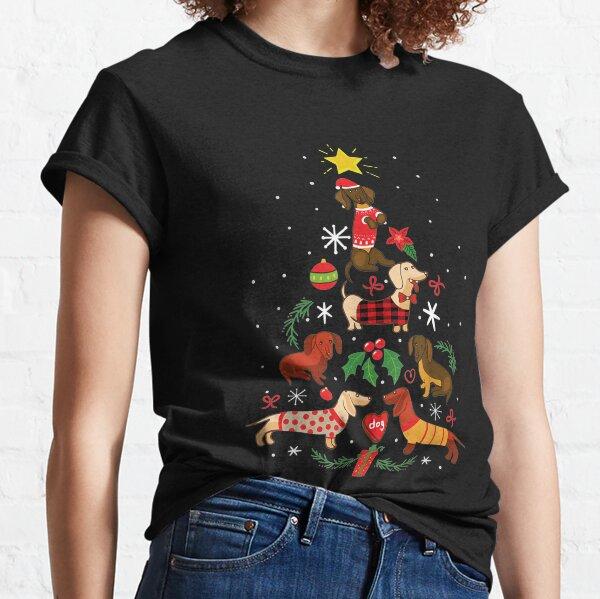 Funny Dachshund Christmas Tree Ornament Decor Gift Classic T-Shirt