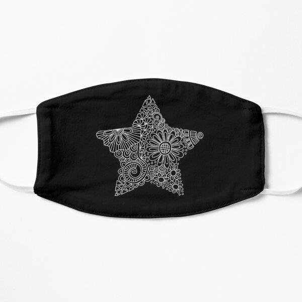 White Star Doodle Flat Mask