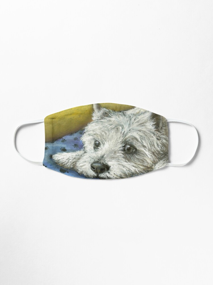 Alternate view of Daydreaming Westie Mask