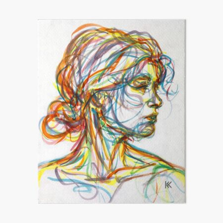 Between Art Board Print