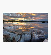 Sundown Willow Lake Photographic Print