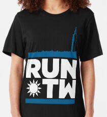RUN TAIWAN 台灣 (Light Version) Slim Fit T-Shirt
