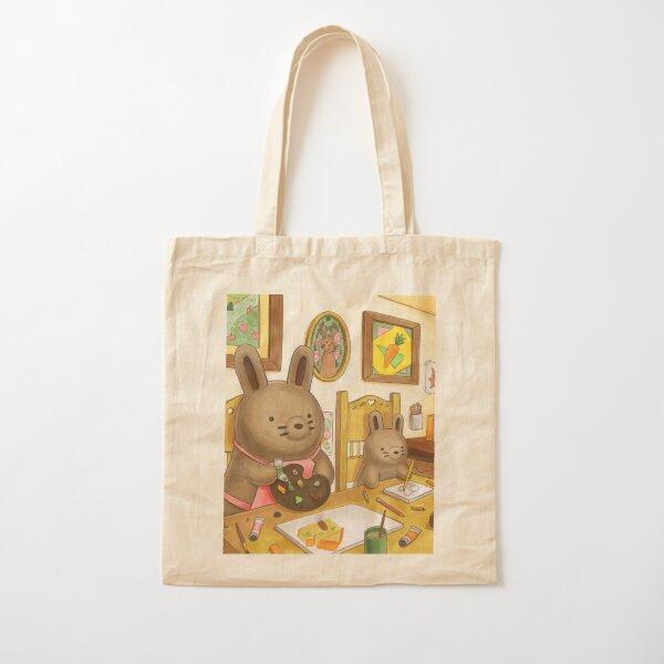 Artsy Bun Buns Cotton Tote Bag