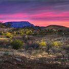 Sunset in the Flinders ranges by Peter Hammer