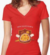New Fluffytown   Community Women's Fitted V-Neck T-Shirt