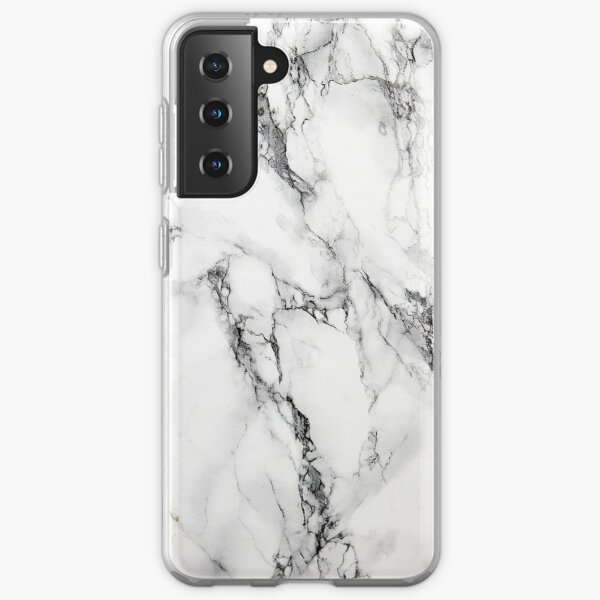 White Marble  Samsung Galaxy Soft Case