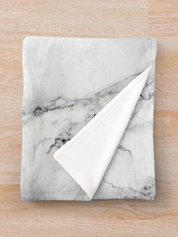 Alternate view of White Marble  Throw Blanket
