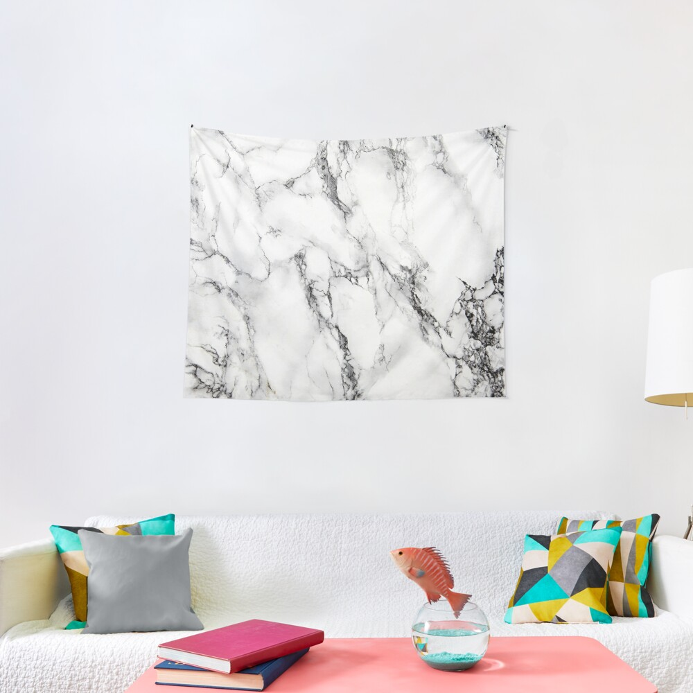 White Marble  Tapestry