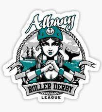 Albany Roller Derby League Logo Sticker
