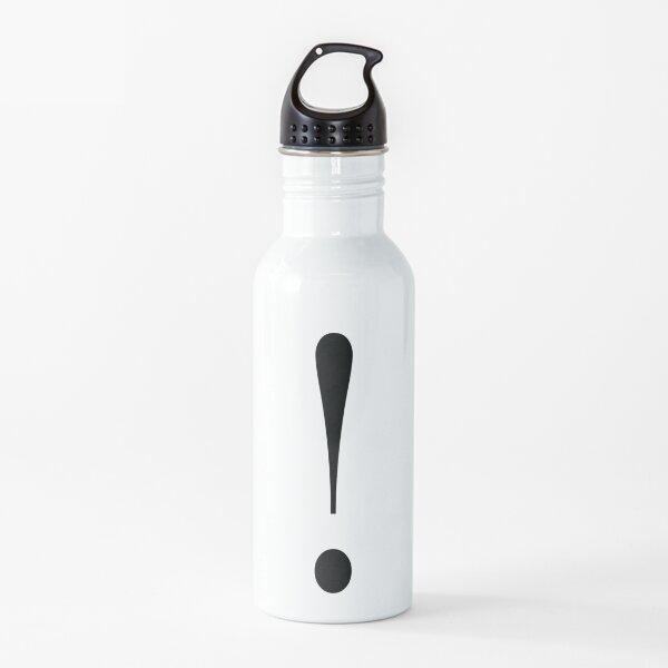 Signo de exclamación Botella de agua