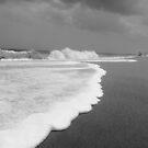 Beach - Black & White Waves by Chinita128