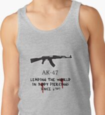 AK-47 Leading the World in Body Piercings Tank Top
