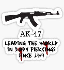 Pegatina AK-47 liderando el mundo en piercings corporales