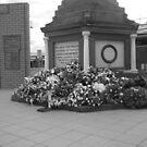 Anzac  Day - 2012 Echuca - Echuca Memorial - Grayscale by djnatdog