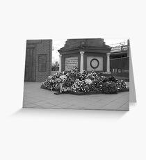 Anzac  Day - 2012 Echuca - Echuca Memorial - Grayscale Greeting Card