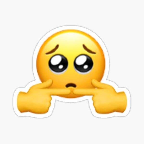 Shy Emoji Pegatina