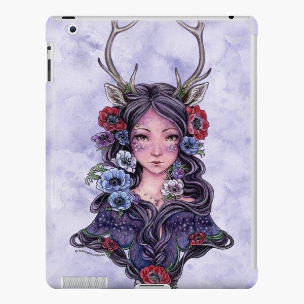 Dark Faun Girl with Flowers iPad Snap Case