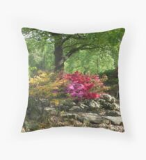Mid-Day Azaleas  Throw Pillow