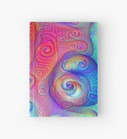 DeepDream Tomato Steelblue 5x5K v7 Hardcover Journal
