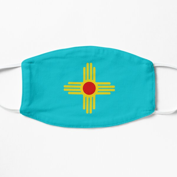 New Mexico Flag - Turquoise Flat Mask