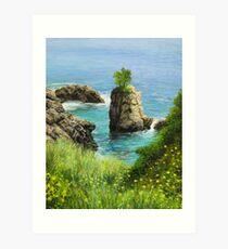 La Grotta - island of Corfu Art Print