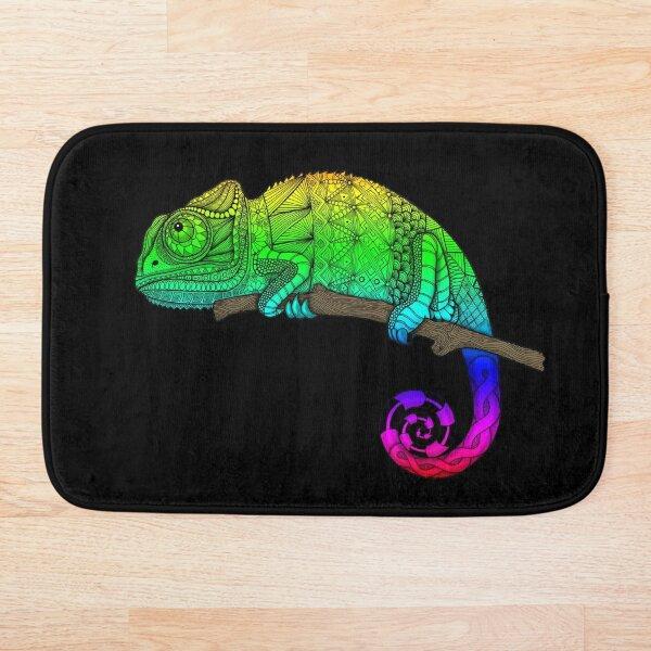 Rainbow Chameleon Bath Mat