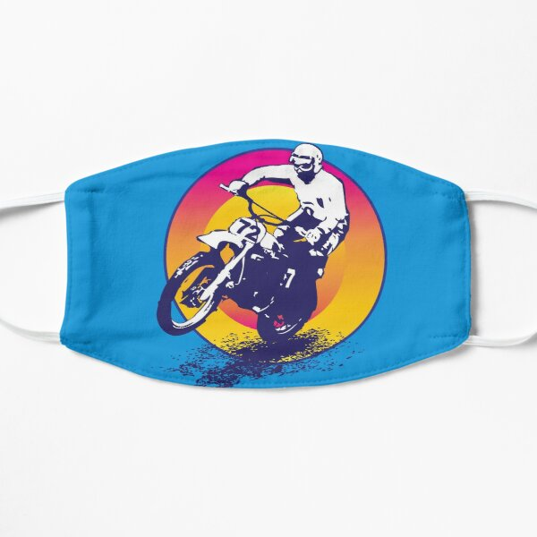 Motocross Vintage Masque sans plis
