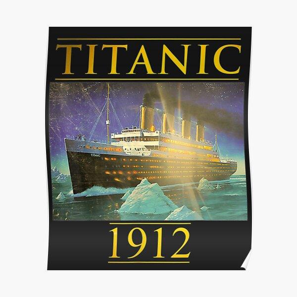 Titanic Sailing Ship Vintage Cruis Vessel 1912 gift Poster