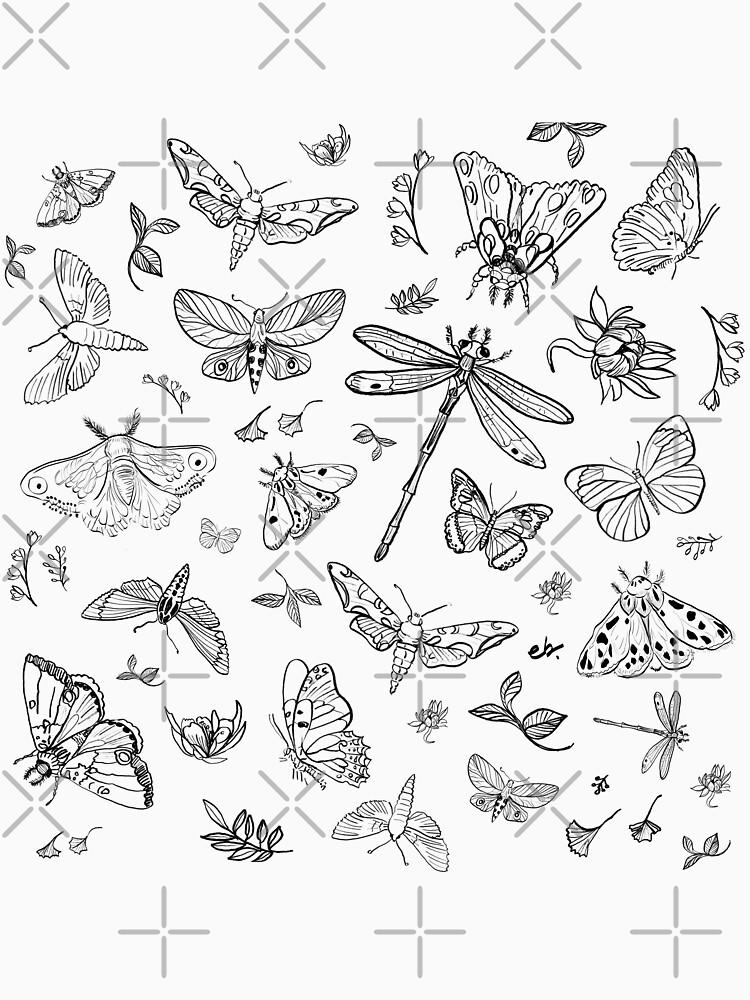 Butterfly,Moth, Dragonfly pattern by ebozzastudio