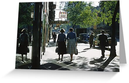 Collins street in morning beside Feltex shop 19570106 0000 by Fred Mitchell