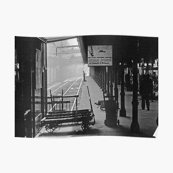 195809030013 Princes Bridge Station BW Poster