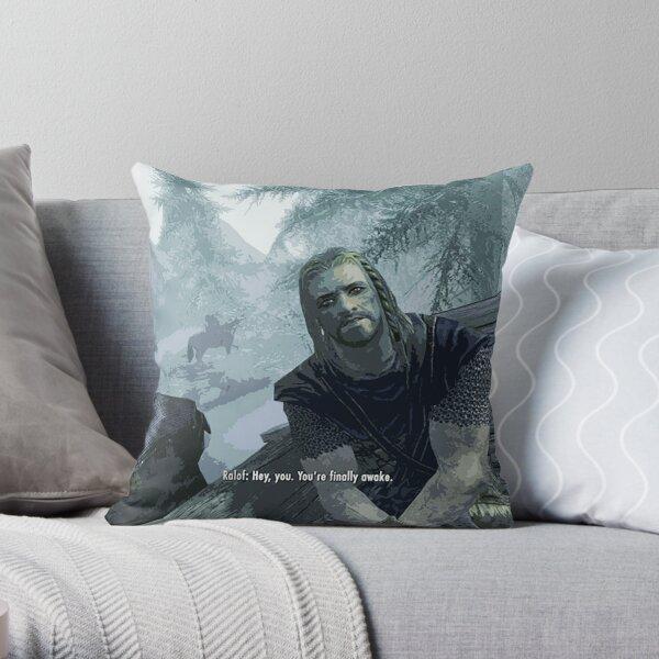You're Finally Awake Throw Pillow