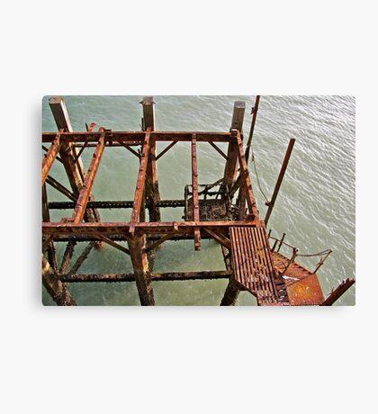 Pier Down Canvas Print