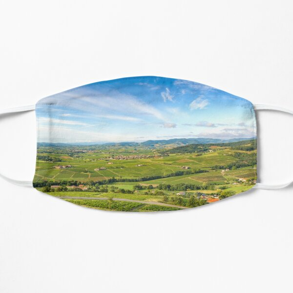 Landscape of vineyards of the Beaujolais Flat Mask