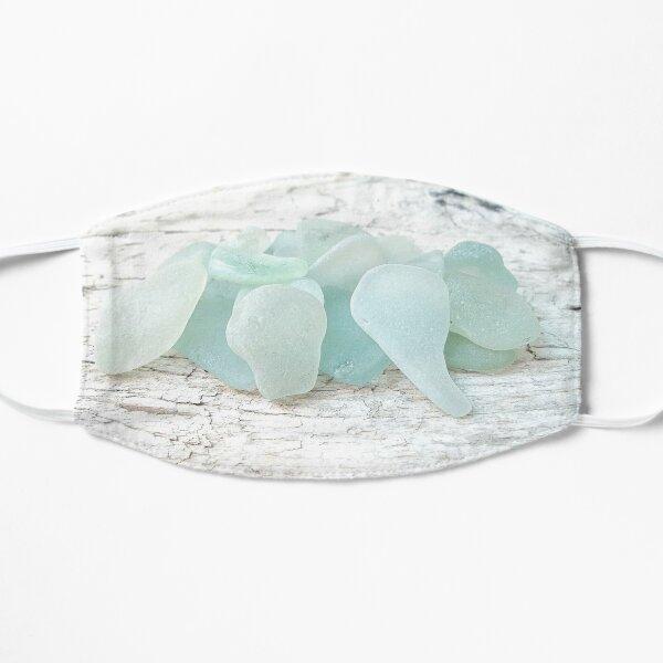 Sea Foam Sea Glass Pale Pastels on White Mask