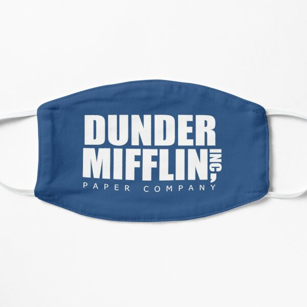 Dunder Mifflin Paper Company The Office Flat Mask