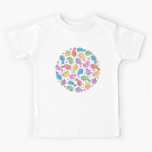 Lindo patrón de manatí - Colorido patrón subacuático Camiseta para niños
