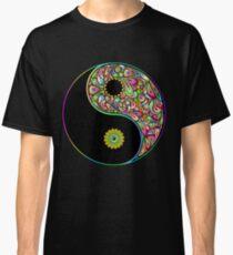Yin Yang Symbol Psychedelic Art Design Classic T-Shirt
