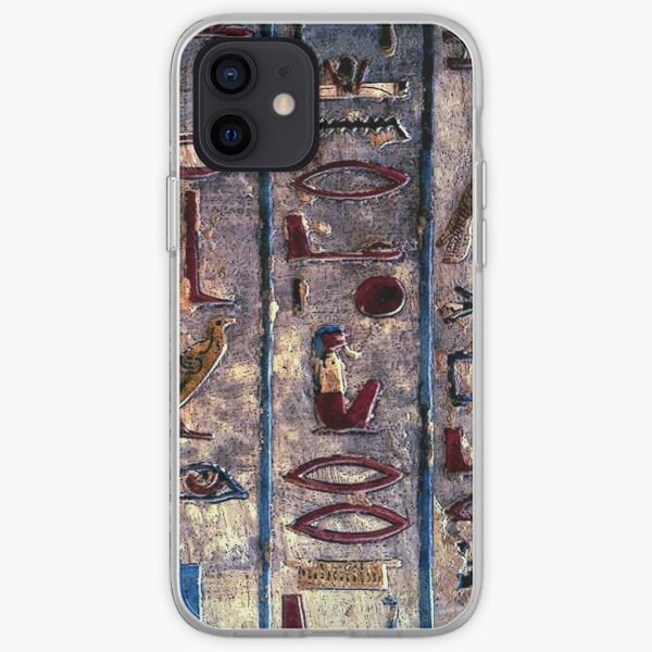 Hieroglyphics Ancient Egyptian Emojis iPhone Soft Case