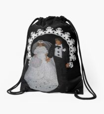 I DO...BRIDE AND GROOM PILLOW,TOTE BAG,TEE SHIRT,JOURNAL,PICTURE,CARD,ECT. Drawstring Bag