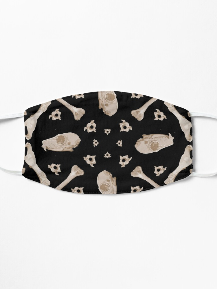 Alternate view of Ruffed Lemur bones Mask