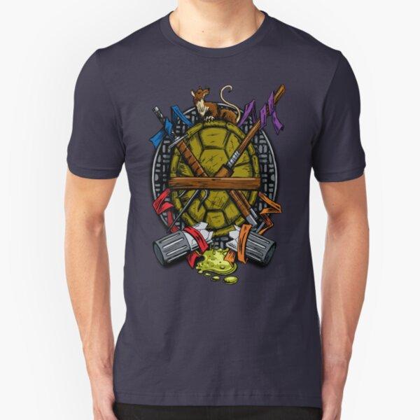 Turtle Family Crest - Full Color Slim Fit T-Shirt