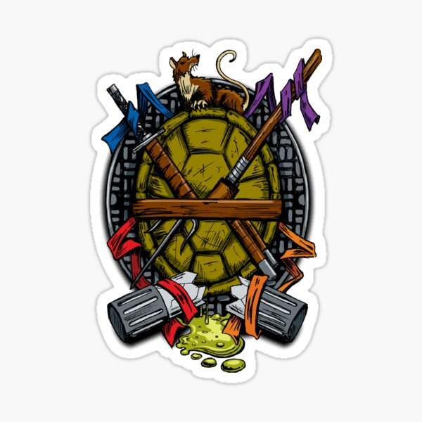 Turtle Family Crest - Full Color Sticker