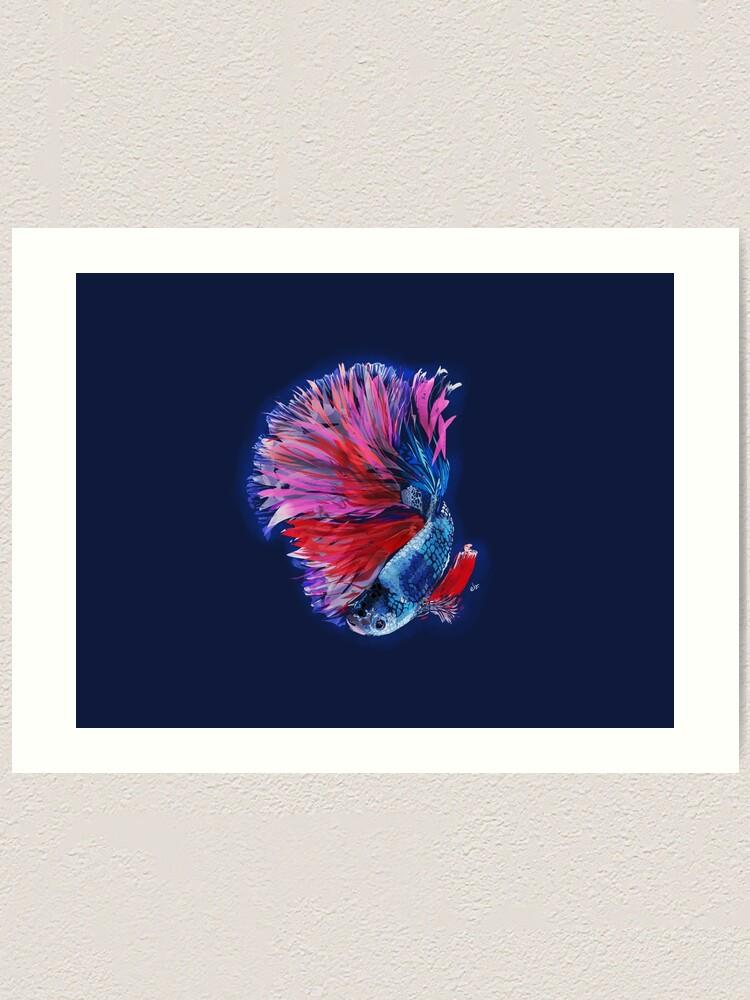 Alternate view of Magical beta fish Art Print
