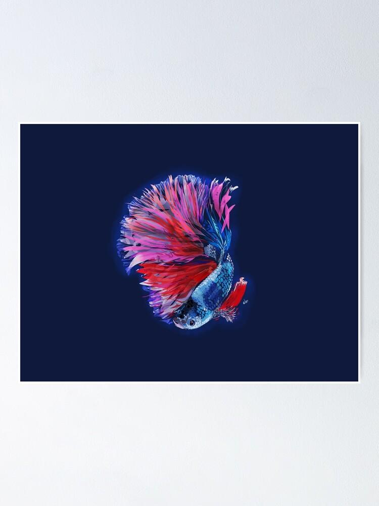 Alternate view of Magical beta fish Poster